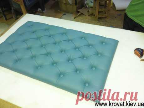 Изготовление мягких стеновых панелей