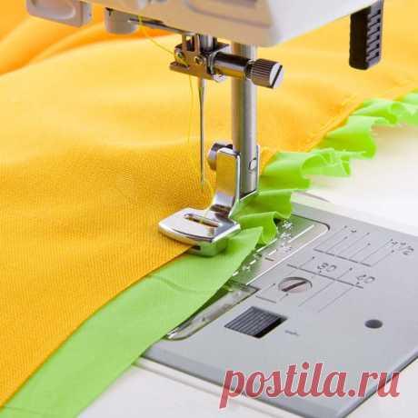 оборки на швейной машине или оверлоке, лапка для присбаривания   ШЬЮ САМА