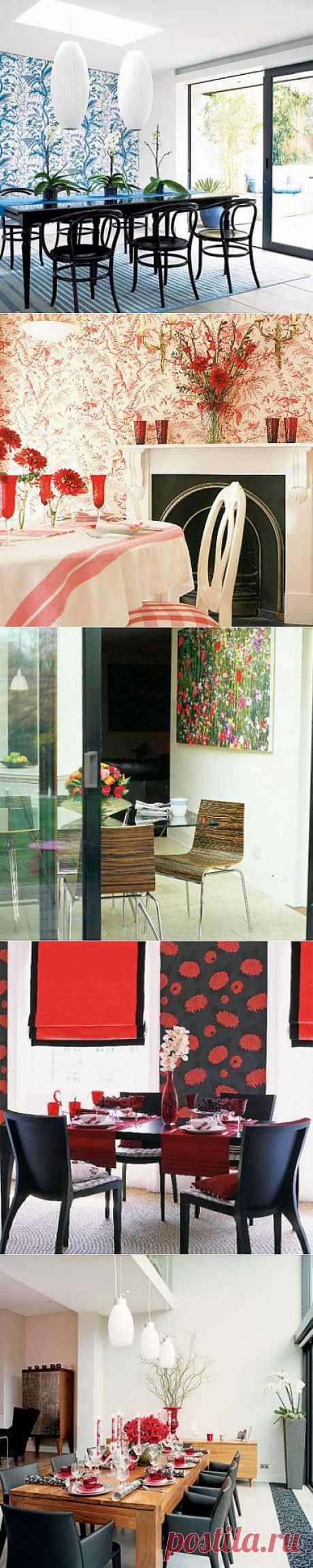 Дизайн столовой - цветочные фантазии | Фото интерьера столовой