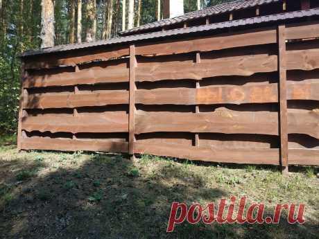 В садоводстве люди начали отказываться от заборов из профлиста и стали строить красивые и недорогие конструкции из дерева.   Самострой   Яндекс Дзен