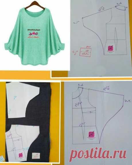 Моделирование блузона с цельнокроенным рукавом — DIYIdeas