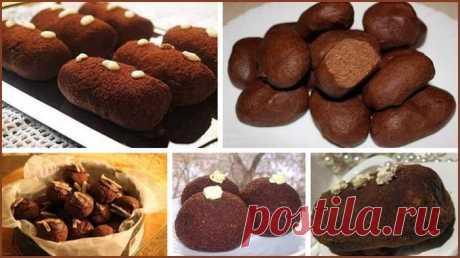 Пирожное «Картошка». ТОП-5 замечательных рецептов Всеми любимое пирожное «Картошка» — 5 вариантов приготовления. Выбирайте любой, все хороши! Пирожное «Картошка»  Содержание статьи1 Рецепт №12 Рецепт №23 Рецепт №34 Рецепт №45 Рецепт №5 Рецепт №1 Ингредиенты (на 20 штук): Сухари ванильные — 500 г Молоко сгущенное — 400 мл Какао-порошок — 50 г Сливочное масло — 200 г Шоколад темный 70-80% …