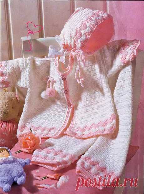 Children's set according to the scheme of knitting by a hook - the Portal of needlework and fashion