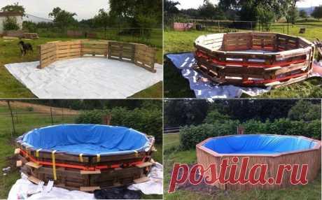 Как самому построить бассейн из простых деревянных поддонов: дешевле и практичнее не придумаешь | Своими руками