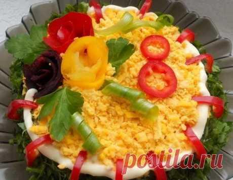 Салаты на 8 марта - новинки вкусных и простых рецептов