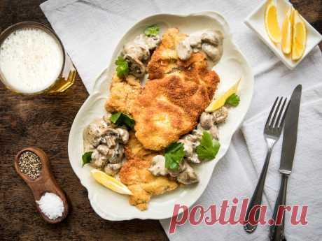 Егерский шницель - Пошаговый рецепт с фото своими руками Егерский шницель - Простой пошаговый рецепт приготовления в домашних условиях с фото. Егерский шницель - Состав, калорийность и ингредиенти вкусного рецепта.