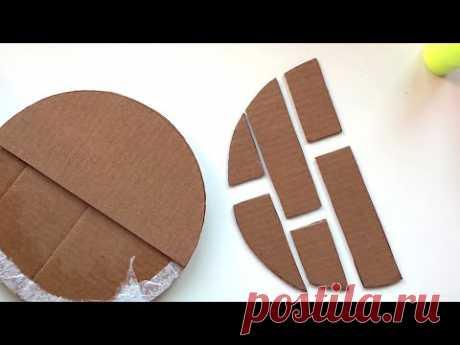 DIY Wall decor cardboard | Cardboard idea | Paper craft - YouTube