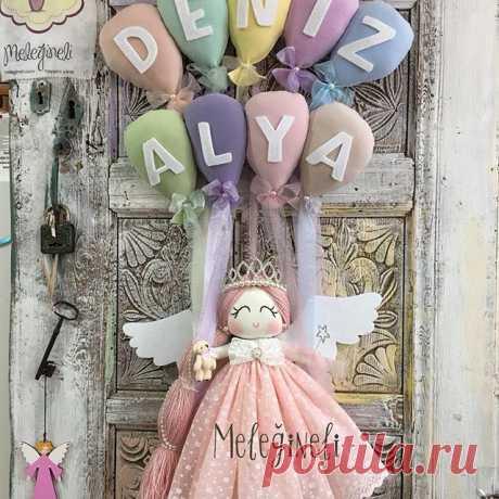 Renkler mis bol pudralar bol bol olsun dedik #balon iki isim oldu #melegineli #kapisusu #baby #nursery #dolls
