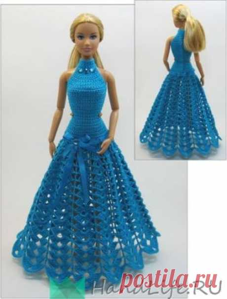 Clothes for dolls. Knitting by a hook (video) \/ All for dolls