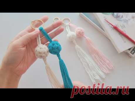 钩针信物:别具一格的小绣球,精致可爱的流苏挂件