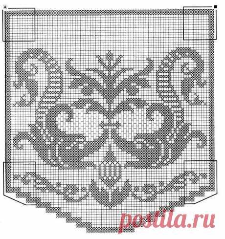 Схемы для филейного вязания: витееватые узоры