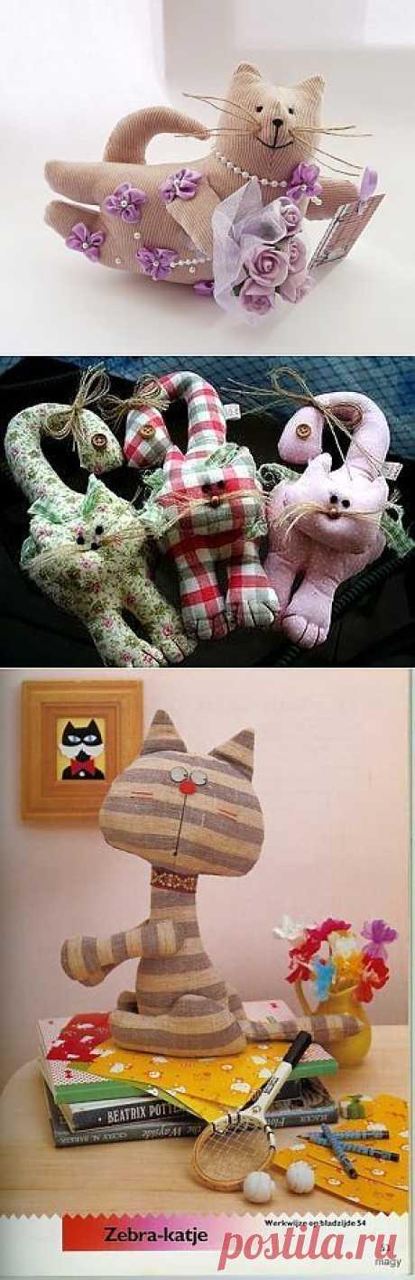 Мягкая подушка кот — выкройки | My Milady
