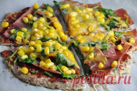 Хрустящий корж из тунца для пиццы