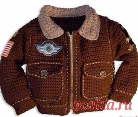 Куртка для мальчика крючком