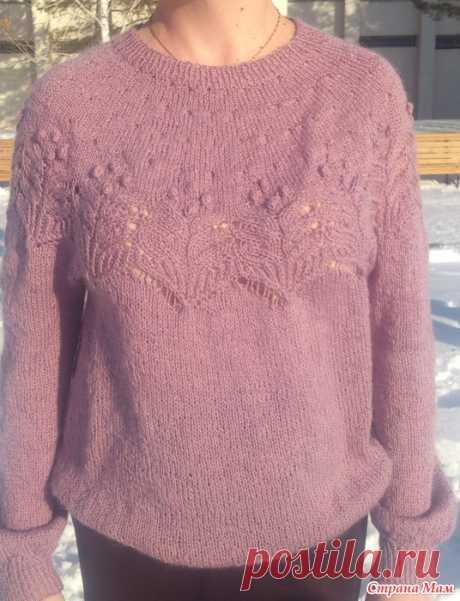 """Пуловер """"Жемчужина"""" и остальное Добрый день! Связала себе пуловер """"Жемчужина"""", автором которого является японская рукодельница Ирен Лин.  Получилось, что к празднику. Результатом осталась очень довольна."""