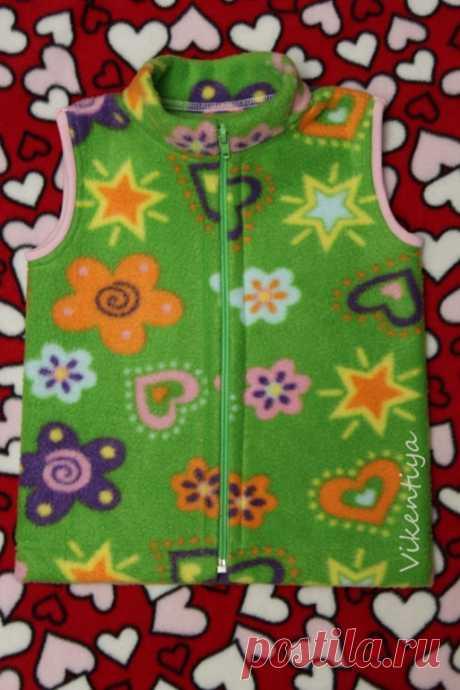 Выкройки жилетки для девочки: школьный, утеплённый, флисовый, с воротником