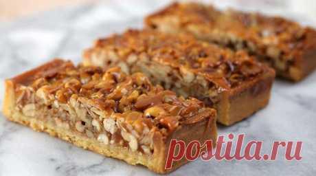 Карамельный пирог с орехами: Очень простая и вкусная выпечка