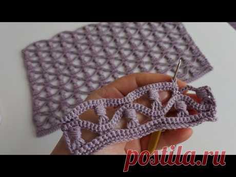 Yapımı kolay tığ işi muhteşem örgü  sal modeli how to crochet knitting