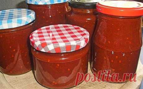 Пикантный томатный кетчуп на зиму. Оригинальный вкусный рецепт радует много лет...съедается влёт!