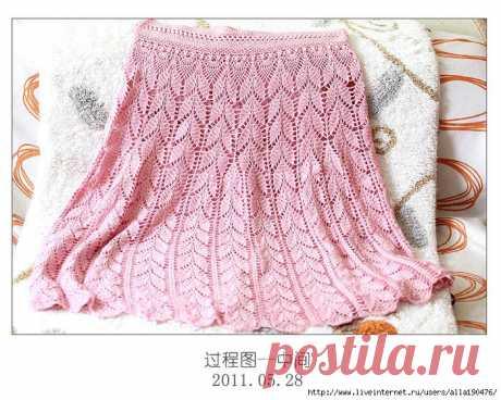 Розовая юбка крючком схема. Юбка крючком узором колоски   Вязание для всей семьи