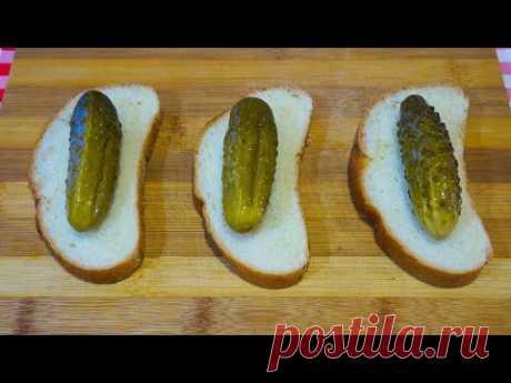 Скорее сохраняйте рецепт! Если для бутербродов нет колбасы, меня выручают огурцы!