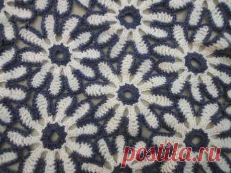 Цветочный мотив Floral motif Crochet - YouTube