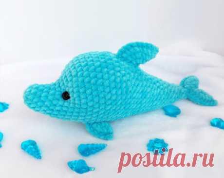 Дельфин амигуруми. Схемы и описания для вязания игрушек крючком! Бесплатный мастер-класс от Ирины Коростиной