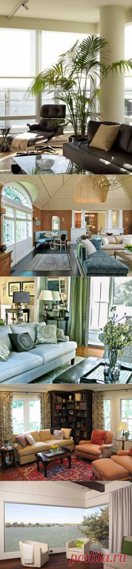 18 прекрасных способов использования углов в гостиной