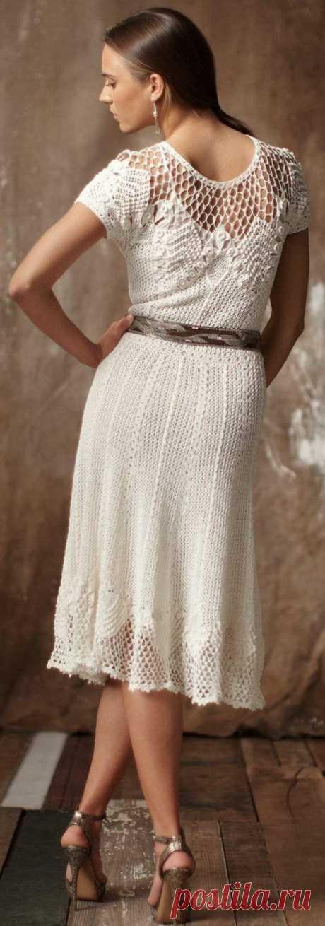 Винтажное платье крючком