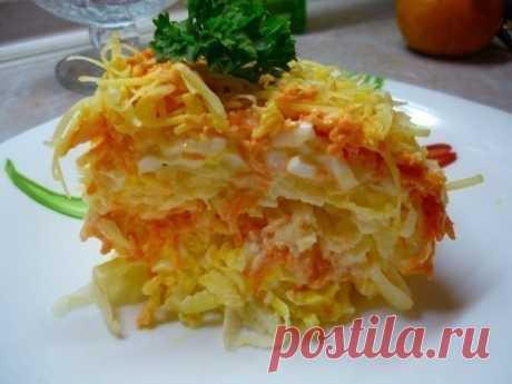 Легкий и бесподобный салат «Французский» из самых доступных ингредиентов! Готовим за 15 минут!