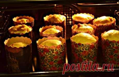 Тесто для вкусного пасхального кулича в духовке
