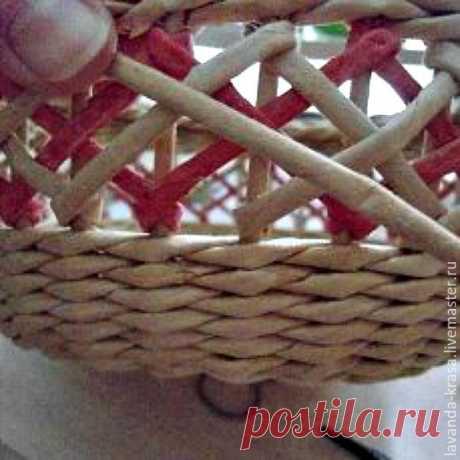 Мастер-класс по плетению ажура на готовой корзинке | Журнал Ярмарки Мастеров