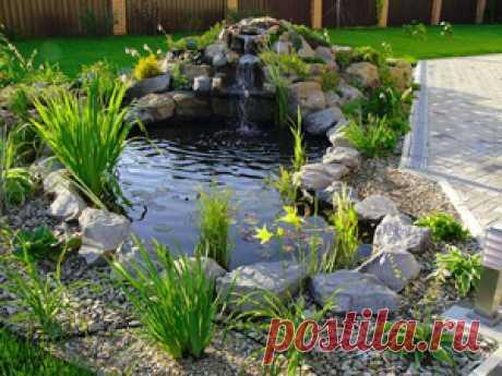 Декоративный водопад в саду своими руками