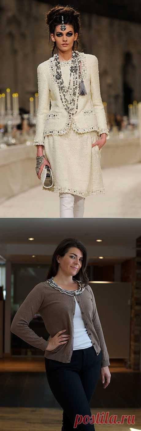 Декор горловины (DIY) / Воротнички / Модный сайт о стильной переделке одежды и интерьера