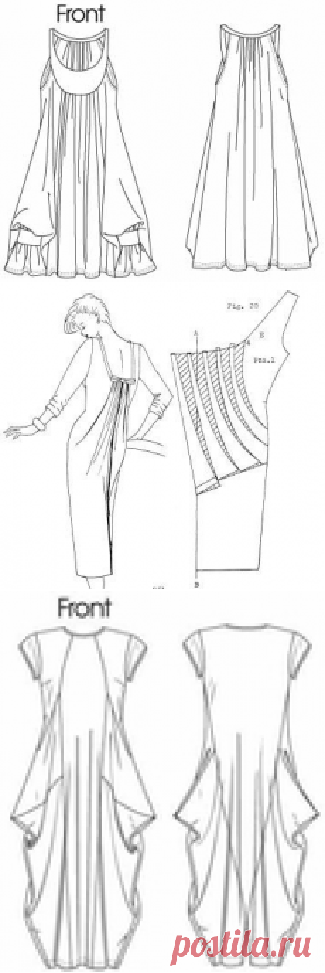 Several bokho-ideas with a skirt drapery