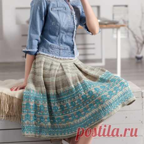 Красивая жаккардовая юбка