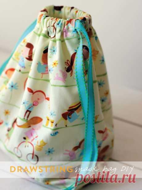 Alice and LoisDIY Project - Drawstring Snack Bag