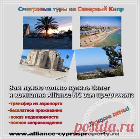 Смотровые туры на Северный Кипр: сопровождение, показ всех вариантов жилья, юридические консультации, ...