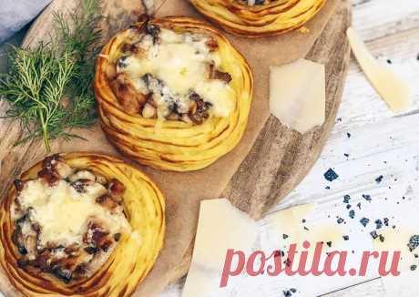 (13) Жюльен в картофельных гнёздах - пошаговый рецепт с фото. Автор рецепта __home__made__cooking__ . - Cookpad