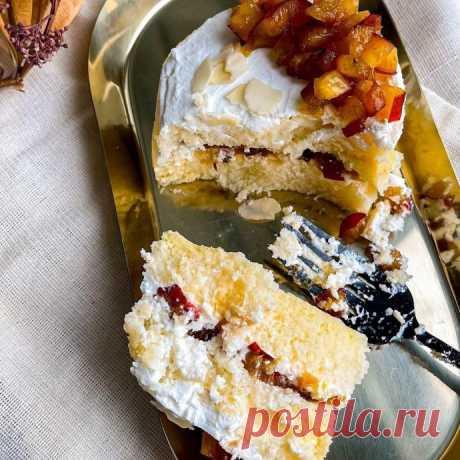 Ванильно-ягодный тортик