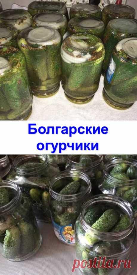 «Болгарские» огурчики