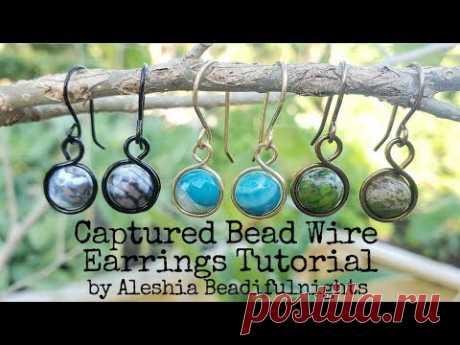 Captured Bead Wire Earrings Tutorial