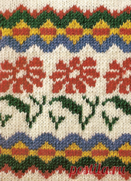 Чарующий жаккард. 5 узоров со схемами  Цветочная поляна      Облака   Гепард   Пятнышки   Жираф