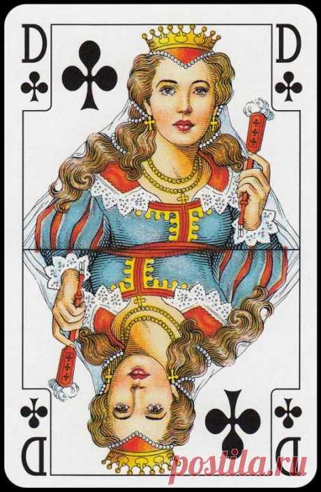 """Оберег на все случаи жизни...  Возьмите уже """"наигранную"""" колоду карт и найдите себя в виде соответствующей дамы (например, бубновая), затем этой же масти короля. Расположите между ними свою фотографию, отснятую на """"мертвом"""" фоне (…"""