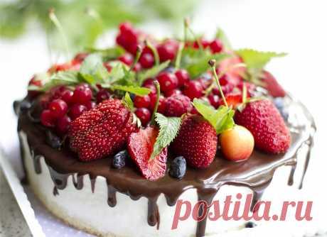 Торт мусс Шоколад-клубника - Тasty life