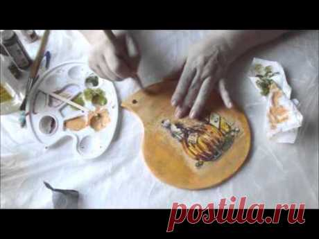 Нитяной кракелюр Daily Art. Как получить фарфоровые трещины. Полная версия