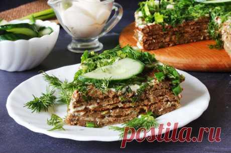 Печеночный торт из говяжьей печени на праздник рецепт с фото пошагово и видео - 1000.menu