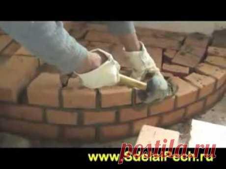 Кладка камина своими руками видео - YouTube