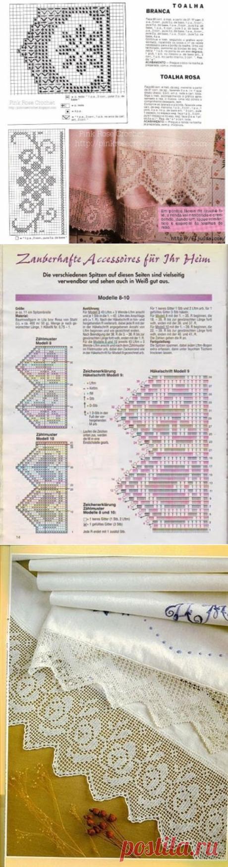 >2 часть. Схемы для филейного вязания крючком.