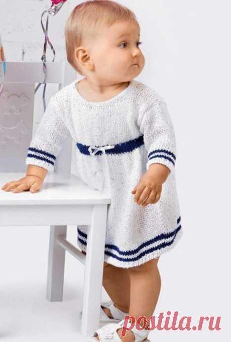 Платье для девочки спицами: схема вязания с описанием - Портал рукоделия и моды